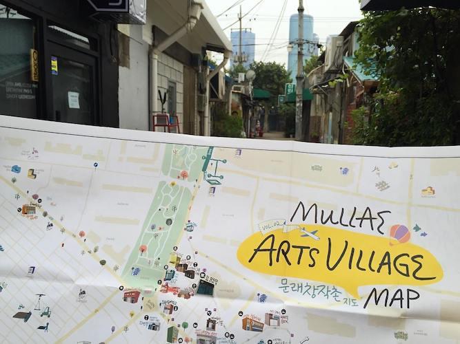 Mullae Art Village free murals and art