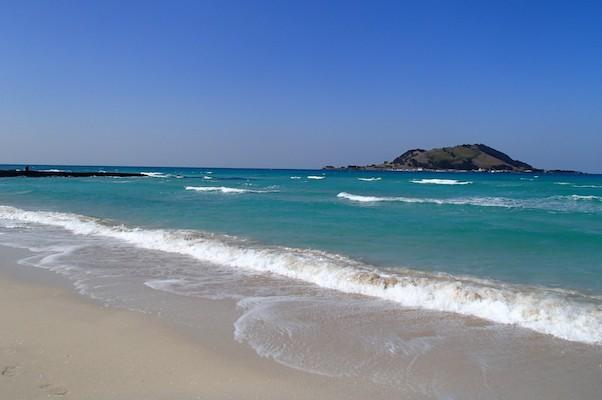 Hyeopjae beach in jeju island