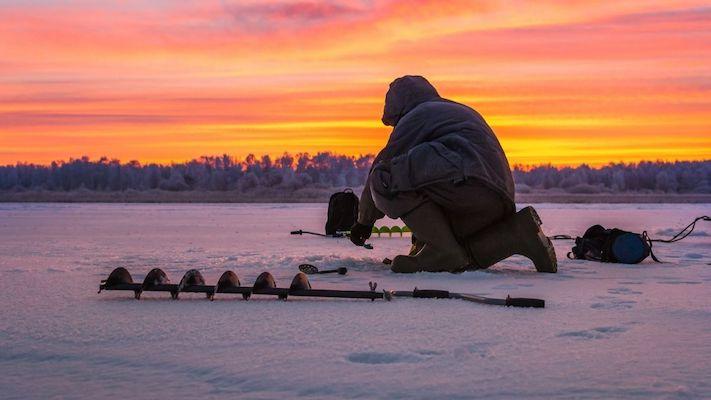 ice fishing winter festival in korea