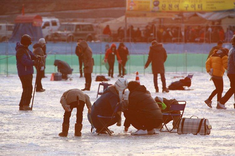 Hwacheon Sanchoneo Ice Festival winter korea