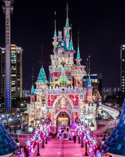 lotte world christmas in korea