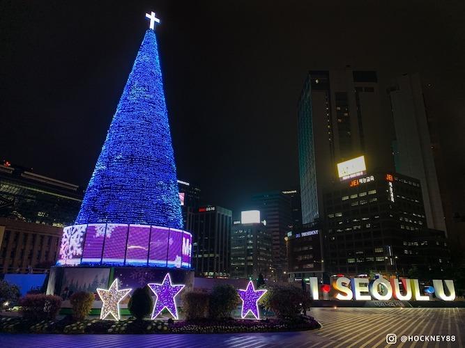 Seoul City Hall Square christmas decoration