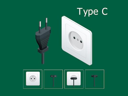 type c electric plug korea