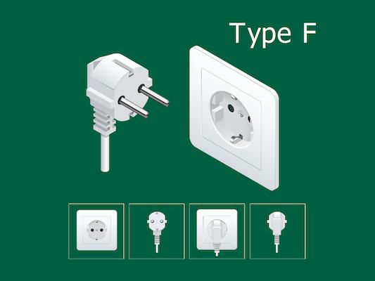type f electric plug korea