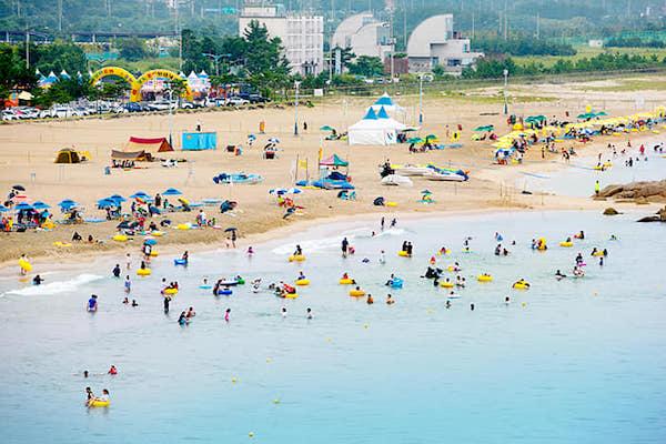 Hajodae beach honeymoon destination Korea