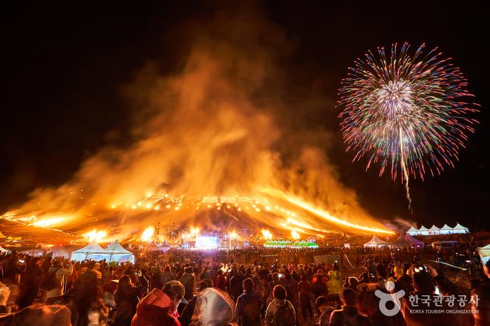 Celebration at Jeju Fire Festival