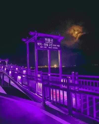 purple island bridge Korea