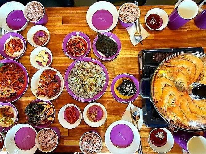 purple island Korea food