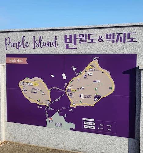 purple island Korea map