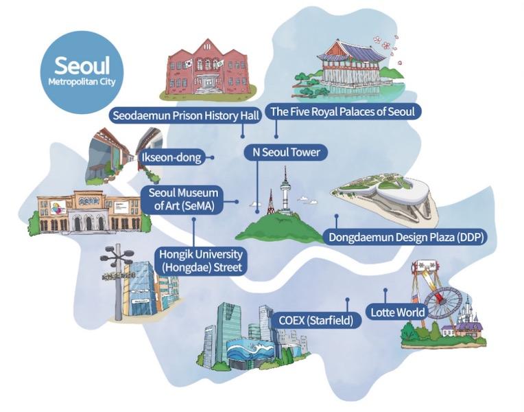 100 must-visit Korea Seoul