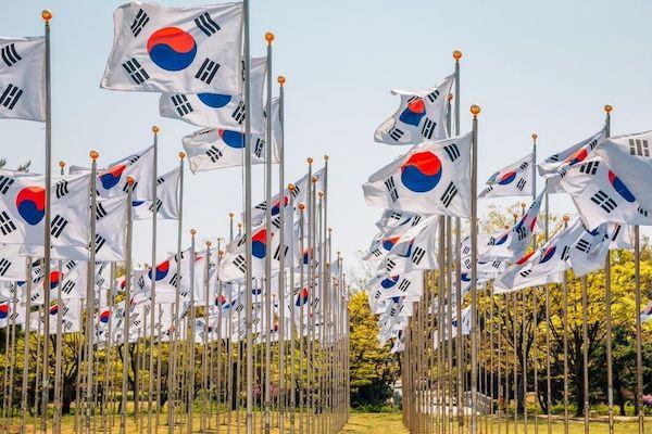 Taeguek Square independence movement day korea