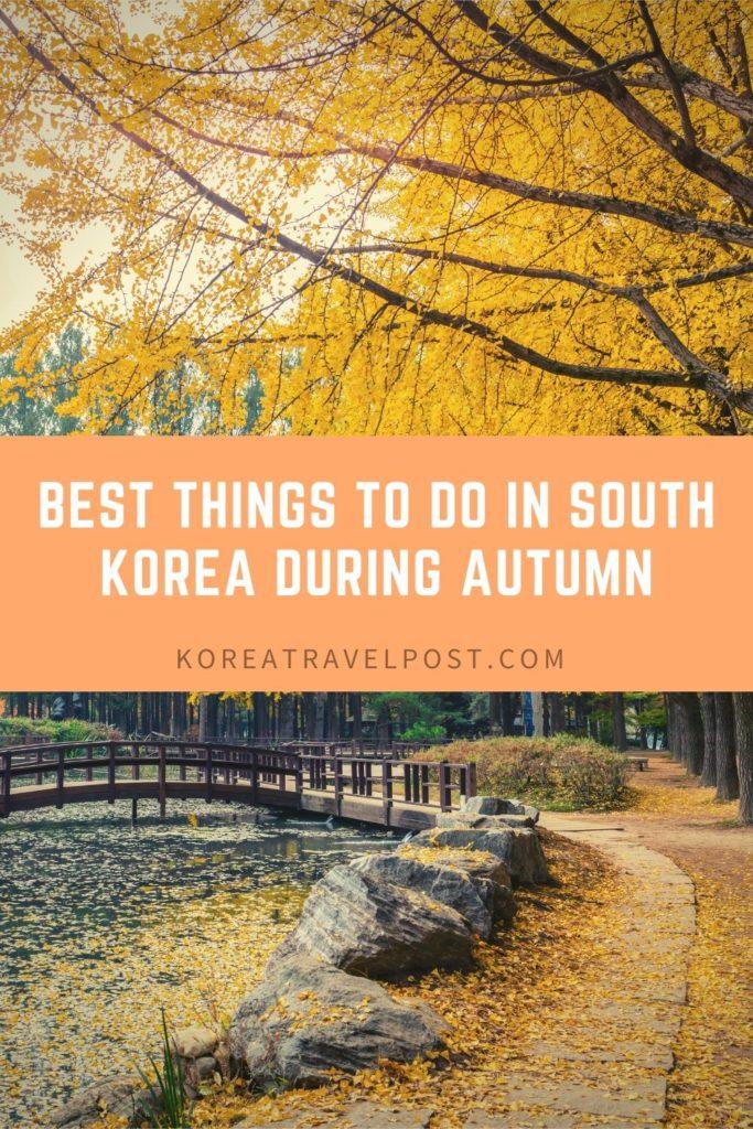Korea Autumn Bucket List