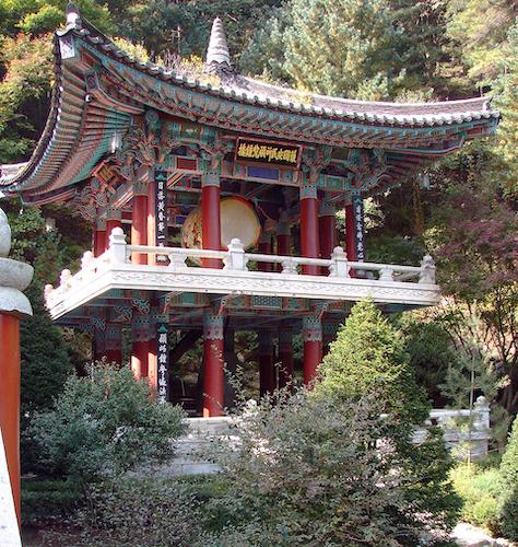 """File:Korea-Danyang-Guinsa Bell Pavilion 2949-07.JPG"" by Steve46814 is licensed under CC BY-SA 3.0"
