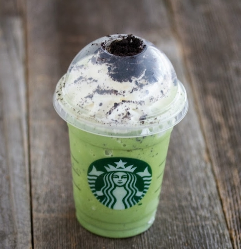 Starbucks Mint Chocolate Chip Blended Drink