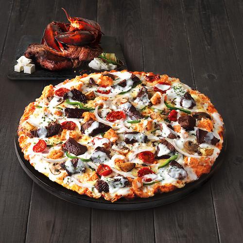 Black Angus Steak Pizza domino's korea
